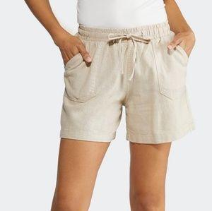 Liz Claiborne beige linen bermuda shorts D1